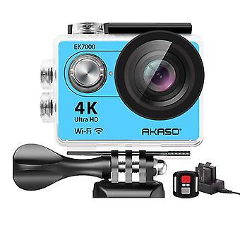 Akaso ek7000 4k sport action camera ultra hd filmadora 12mp wifi câmera impermeável 170 graus de largura v wom35625