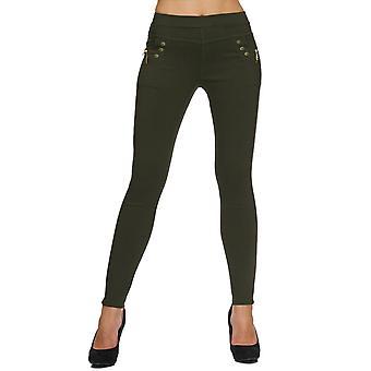 Dam Stretch byxor Skinny Leggings Treggings Plus storlek byxor stora storlek Jeans