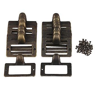 20pcs Antique Bronze Solid Drawer Case Box Label Frame Card Holder 56x46mm