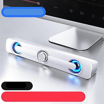 Wired Computer Bar Stereo Bass Bluetooth Speaker For Pc, Laptop, Phone And