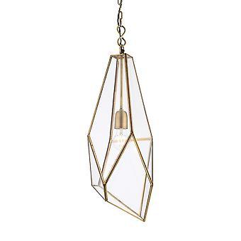 Endon Lighting Avery Pendant Light In Antique Brass