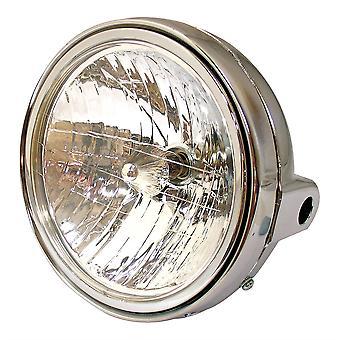 Universele 7 inch ronde motorfiets koplamp Chrome Shell Diamond Eye Lens 12V 35W