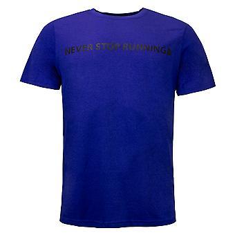North Face Mens Reaxion Meddelande T-Shirt Kör Top Blue NF0A3V799PU