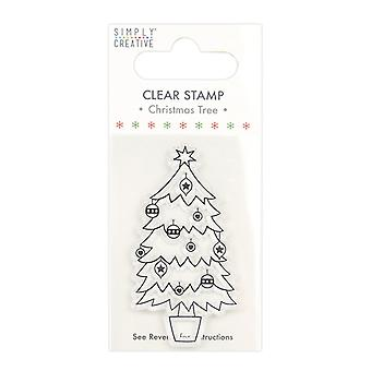 Simply Creative Christmas Tree Clear Stamp