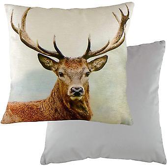 Evans Lichfield Stag Head Cushion Cover