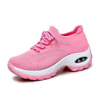 Femmes Breathable Air Cushion Running Shoes Rose