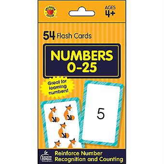 Numeri 0-25 Flash Card