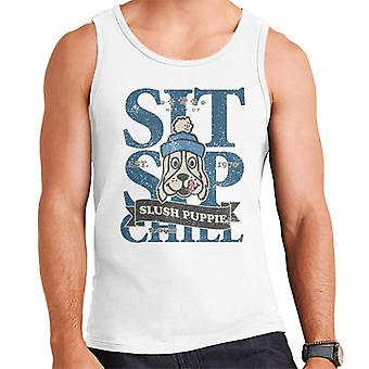 Slush Puppie Distressed Sit Sip Chill Mænd's Vest