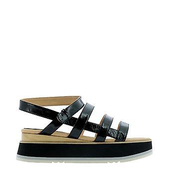 Paloma Barceló Jurvaloryblack Women's Black Leather Sandals