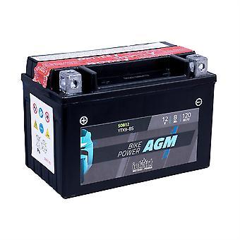 intAct YTX9-BS Maintenance Free AGM Bike-Power Battery