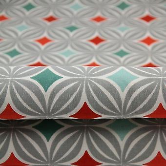 McAlister tekstiilit Laila puuvilla palanut oranssi kangas näyte
