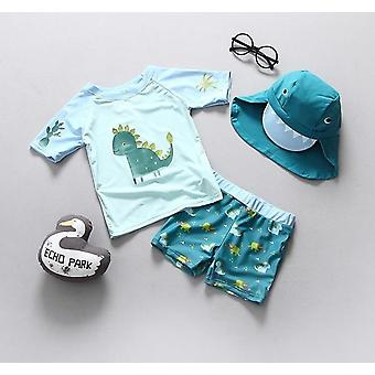 Baby Swimwear Dinosaur Print Swimsuit Separate For Bathing Clothes