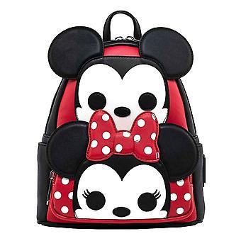 Loungefly Mini Ryggsäck Mickey och Mimmi pop! nya officiella Disney Black