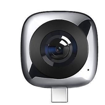 パノラマVrカメラレンズライブモーション360度広角(グレー)