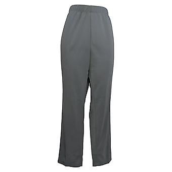 Susan Graver Kvinder's Petite Pants Milano Strik Lige Ben Gray A253418