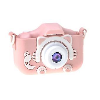 Children 's Camera, Children 's Digital Dual-lens Anti-fall Cartoon Selfie Camera, With Educational Games And 32gb Memory Card