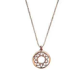 ChloBo Diamond Cut Chain With Heart Mandala Pendant RCDC1469