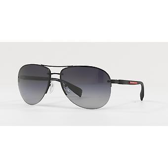 Prada Sport Linea Rossa SPS56M DG0/5W1 Black Rubber/Polarised Grey Gradient Sunglasses