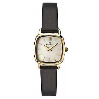 Accurist 8101 Zlatá a čierna koža Dámske hodinky