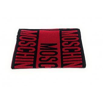 Sciarpa Maglia  Donna  Moschino Red Black   Cm 30 X180  C21mo21