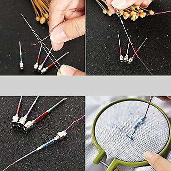 15 Kawałki metalowe hafty szwy igły zestaw