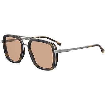 Hugo Boss 1235/S HR3/70 Beige Horn/Brown Sunglasses