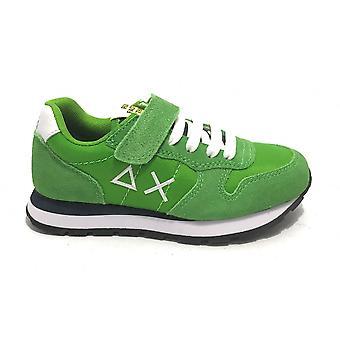 Shoes Baby Sun68 Sneaker Boy's Tom Solid Nylon Green Zs21su15 Z31301
