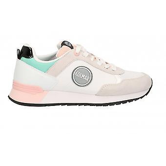 Shoes Women's Colmar Sneaker Running Travis Mellow 139 White/ Pink/ Water Green Ds21co04