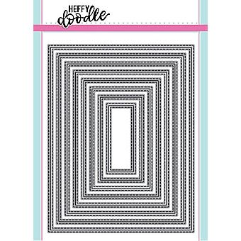 Heffy Doodle Imperial Stitched Rectangles Dies