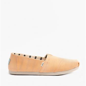 TOMS Alpargata Ladies Canvas Espadrille Chaussures Orange clair