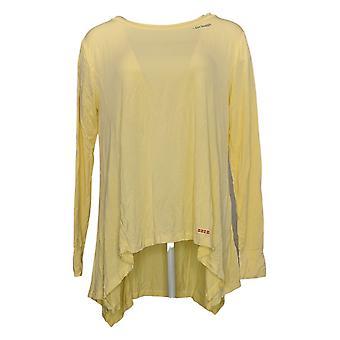 Peace Love World Women's Top Parachute Tee w/ Affirmation Yellow A390376