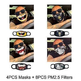 Pop Cotton Fabric Mouth Mask, Washable, Reusable, Adult With Filter, Anti Dust,