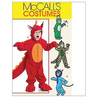 McCalls Schnittmuster 0440 6185 Kleinkinder Kinder Dinosaurier Kostüme Größe CF 4-6
