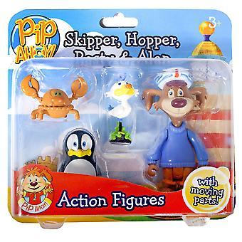 Pip Ahoy! Skipper, Hopper, Pasty and Alan Figures