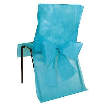 10 Turquoise Premium Stoelhoezen 50 x 95 cm