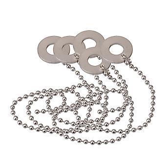 5x hopea metalli lyömäsoittimet symbaali Sizzler rumpuosille 11.42x1.26Inch