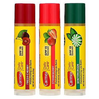 Carmex daily care assorted lip balms, 1 ea