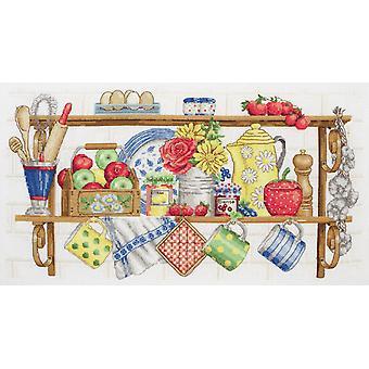 Anchor Cross Stitch Kit: The Kitchen Shelf