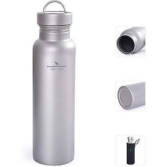 Titanium Water Bottle with Leak-proof Lid Outdoor Sports Bottle Ultralight Canteen Drinking Flask