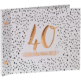 Gerui Luxe Birthday Guest Book With Photo Album by Hotchpotch - Pink 40th
