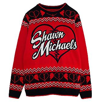 WWE Mens Shawn Michaels Knitted Jumper