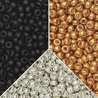 Exclusive Beadaholique Designer Palette, Miyuki Seed Bead Mix, Pyöreä 11/0, 25,5 grammaa, Seine