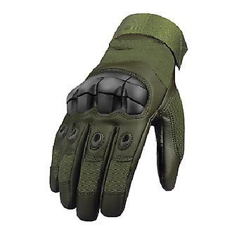 الشتاء Mittens الجلود- التكتيكية التي تعمل باللمس، كامل الاصبع وقفازات بلا أصابع