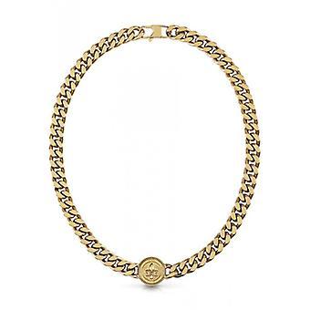 KNIGHT FLOWER Guess Jewelry - Gouden stalen ketting gerijpt ft deze lelie bloem