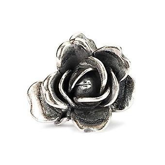 Trollbeads hopeahelmän ruusu kesäkuussa