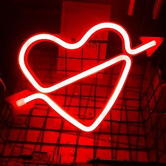 520 Liebe Herz bunte Led Wand hängen Neon Licht
