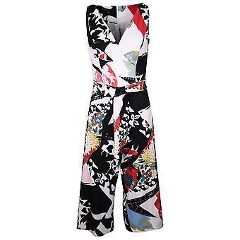 Arggido Multi-coloured Print Wide Cropped Leg Sleeveless Jumpsuit