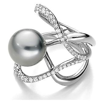 Luna-Pearls - Ring - Pearl Ring Brilliant - White Gold - 005.0998 Gr 56 (17.8mm)