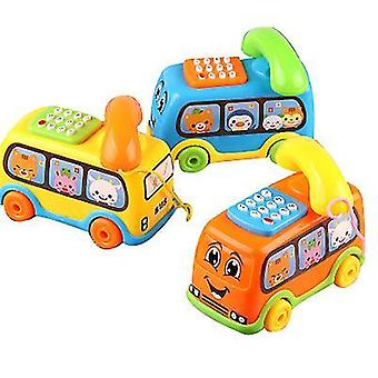 Blue bus phone toy chatter telephone x4210