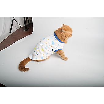 Pet clothes cat clothes printed cat clothes homewear cat t-shirt